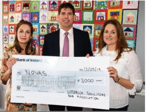 Limerick solicitors donate €3,000 to homeless charity Novas